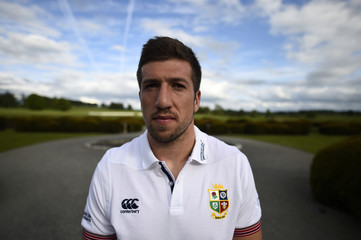 British & Irish Lions' Justin Tipuric poses for a photo