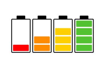 battery charge level vector symbol icon design. Beautiful illustration isolated on white background