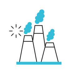 factory industry chimney icon vector illustration design