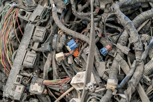 pile of old electrical wires dusty and non working stock photo rh fotolia com Old Romex Wiring Old Romex Wiring