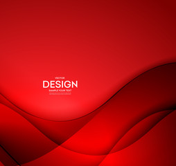 Red vector Template Abstract background with curves lines. For flyer, brochure, booklet and websites design