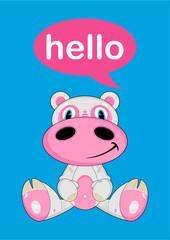 Cute Cartoon Hippo