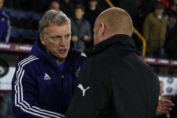 Burnley manager Sean Dyche and Sunderland manager David Moyes before the match