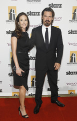 Lane and her husband Brolin pose at the 14th Annual Hollywood Awards Gala in Beverly Hills