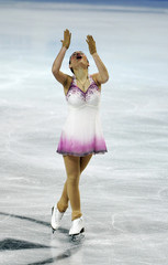 Gedevanishvili of Georgia performs during the women's free skating programme at the European Figure Skating Championships at the Motorpoint Arena in Sheffield