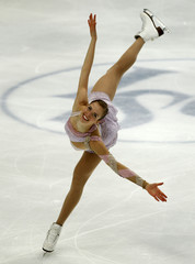 Kostner of Italy performs during the women's free skating event at the ISU World Figure Skating Championships in Moscow