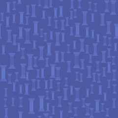 Greek Column Seamless Pattern on Blue Background