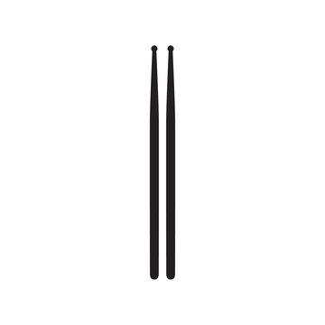 Drumsticks or drum sticks on white background