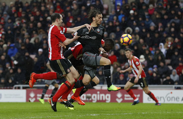 Southampton's Manolo Gabbiadini scores their first goal