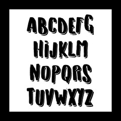 Vector Alphabet. Exclusive Custom Letters. Lettering and Custom