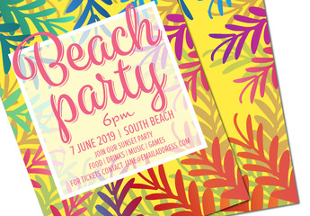 Summer Party Invitation Layout 1