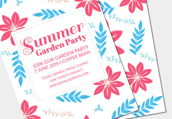 Summer Party Invitation Layout 2