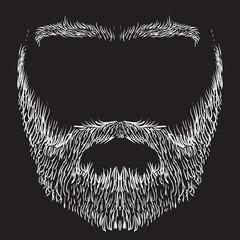 beard, mustache, eyebrows