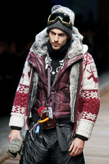 A model displays a creation as part of the Dolce&Gabbana Fall/Winter 2010/11 Men's collection during Milan Fashion Week
