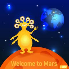 The Martian waving his hand