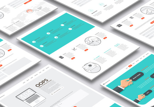 Illustrated Web Layout with Icons 1
