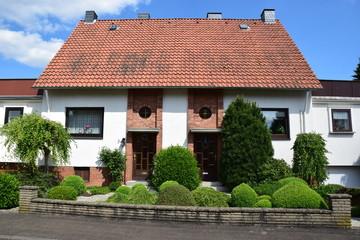 Doppelhaus der Nachkriegszeit