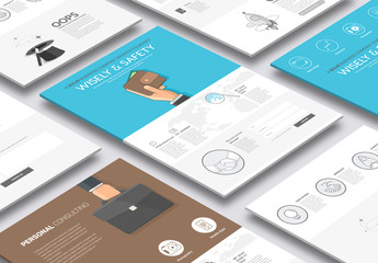 Illustrated Web Layout with Icons 4