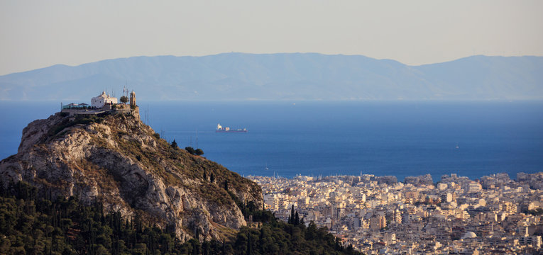 Athens, Greece - Panoramic, aerial view