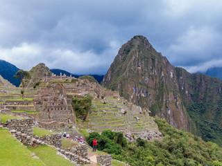 Inkaruinen auf dem Machu Picchu Cusco Peru
