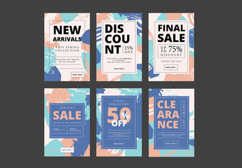 Abstract Patterned Social Media Sale Banners 2
