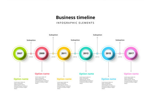 6-Step Timeline Infographic with Colorful Icons 1