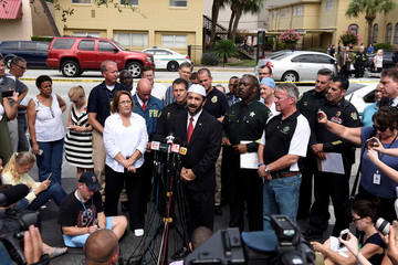 Imam Muhammad Musri speaks at a news conference after a shooting attack at Pulse nightclub in Orlando, Florida