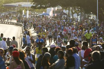 Participants of Comrades Marathon run through Westville