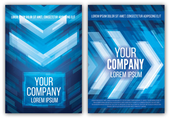 Flyer Layout with Abstract Background 1