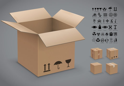 Cardboard Box Packing Instructions Kit 1