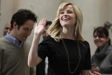 Cast members Witherspoon and Rudd arrive to promote movie in Berlin