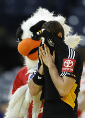 Germany's Gensheimer reacts after being defeated by Poland in Men's European Handball Championship match in Belgrade