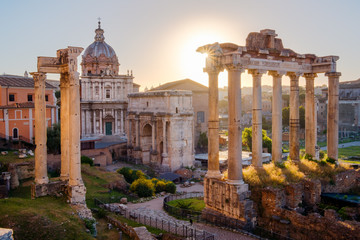 Printed roller blinds Rome Scenic view of Roman Forum at sunrise, Rome