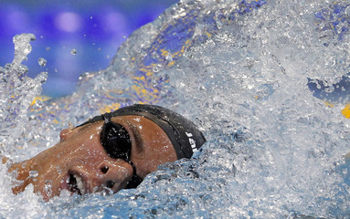 Paltrinieri of Italy competes in the men's  1500m freestyle final during the 2012 European Swimming Championship in Debrecen