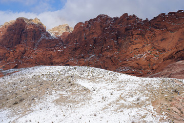 Snow in the Desert - Red Rock Canyon
