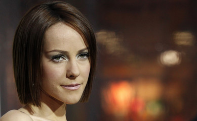 """Cast member Jena Malone poses at the premiere of """"Sucker Punch"""" at the Grauman's Chinese theatre in Hollywood"""