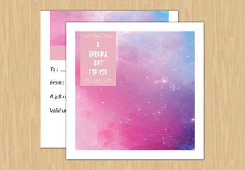 Photography Services Gift Card Layout 4