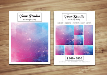 Grid Style Photography Brochure Layout 5