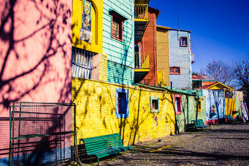 Caminito, The colorful street museum - La Boca - Buenos Aires - Argentina - South America.