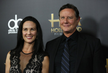 Amy Reinhold and actor Judge Reinhold arrive at the Hollywood Film Awards in Beverly Hills