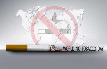 No tobacco day background of the world