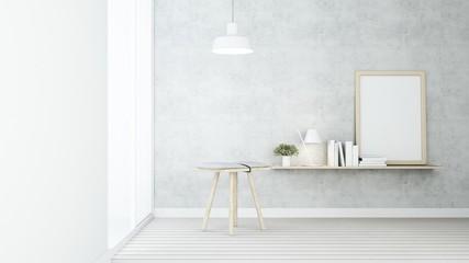 The Interior Loft style  living space in condominium - 3D Rendering