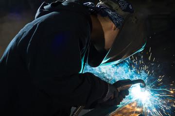 Foto op Plexiglas Body Paint Mig welding