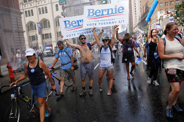 Protesters march against Clinton in Philadelphia