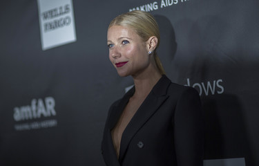 Actress Paltrow poses at the amfAR's fifth annual Inspiration Gala in Los Angeles