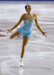 Hecken of Germany skates in the ladies short program competition at the Hilton HHonors Skate America in Kent, Washington