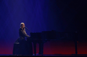 """Maya Sar of Bosnia and Herzegovina performs her song """"Korake ti znam"""" during the Grand Final of the Eurovision song contest in Baku"""