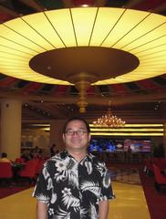 Chinese mogul Zhang Baoquan poses at Jesters casino bar on Sanya Bay in Hainan island