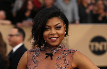 Actress Taraji P. Henson arrives at the 23rd Screen Actors Guild Awards in Los Angeles