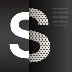 Modern Alphabet on Black Background : Vector Illustration
